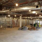 At work on the new Pitney Bowes facility