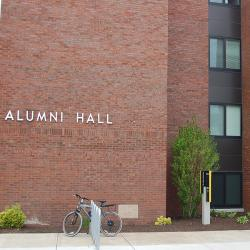 Alumni Hall and Neil Hellman Library